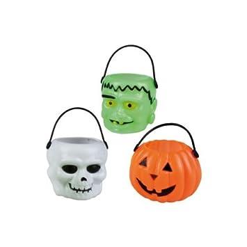 6 de Halloween de cubo de 6 cm, calabaza cráneo Frankenstein: Amazon ...