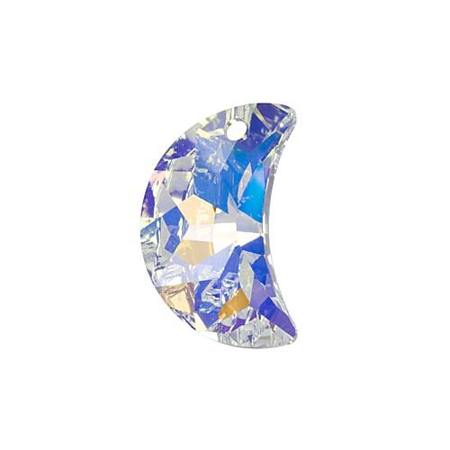 SWAROVSKI ELEMENTS Crystal Moon Pendant #6722 20mm Crystal AB (1)