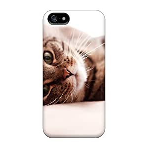 Awesome Beautiful Cat Wallpaper4 Flip Case With Fashion Design For Iphone 5/5s