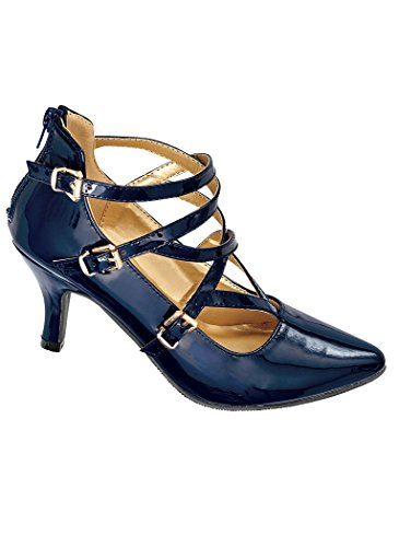 Angelsteps Donna Adulto Angelo Passi Zafferano Pumps Abito Blu Navy