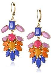 "Carolee ""Rio Radiance"" Floral Chandelier Earrings"