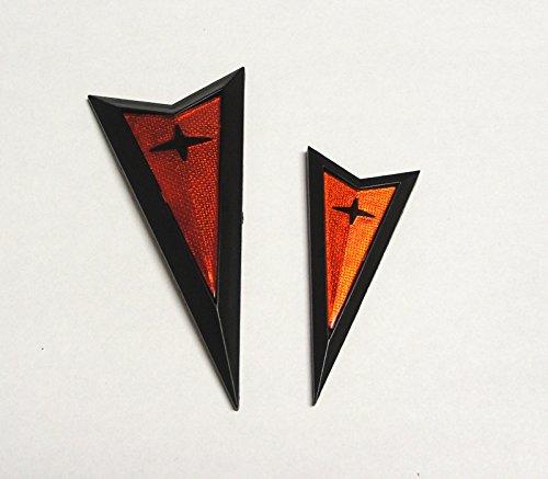 Rear Bumper Emblem (Pontiac GTO Front/Rear Bumper Emblem Kit - Black)