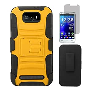 [ARENA] ORANGE BLACK HYBRID STAND COVER BELT CLIP HOLSTER CASE for BLU STUDIO 5.5 + FREE SCREEN PROTECTOR