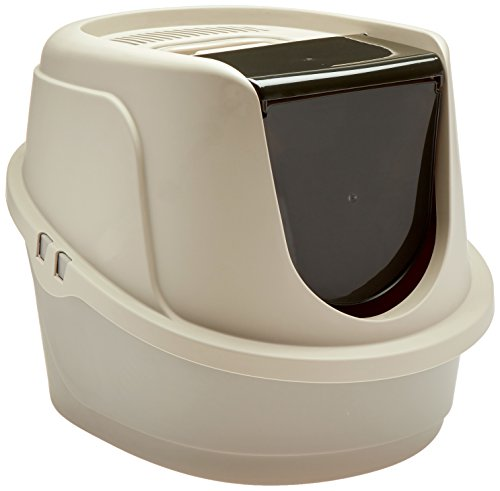 (AmazonBasics Hooded Cat Litter Box, Standard)