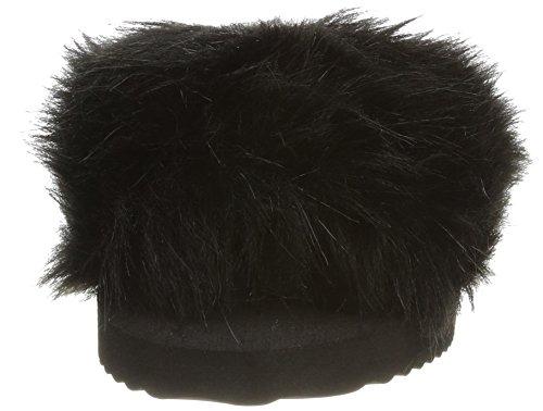 Black Bout Noir Pool 0000 Ouvert Fur flip Slim Femme flop S8xnq8awA
