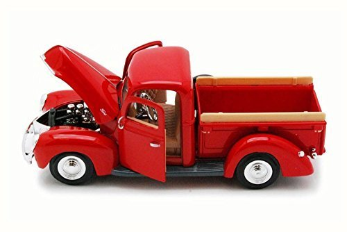 (Motor Max 1940 Ford Pick Up truck, Red 73234 - 1/24 Scale Diecast Model Toy Car)