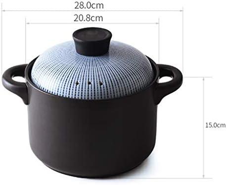 Cacerola con tapa de cristal para el hogar, de cerámica, para sopa ...