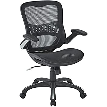Amazing Office Star Mesh Back Seat 2 To 1 Synchro Lumbar Support Managers Chair Black Machost Co Dining Chair Design Ideas Machostcouk