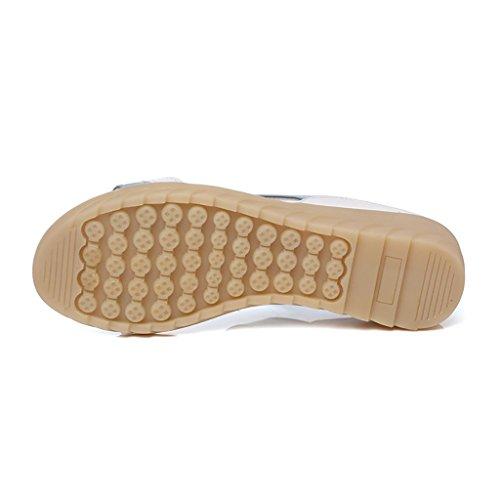 Shopping Leisure White Silver Color EU39 slip UK6 student sandals flat 245mm Female slippers Non Summer sandals L Size PENGFEI qRgYwEx