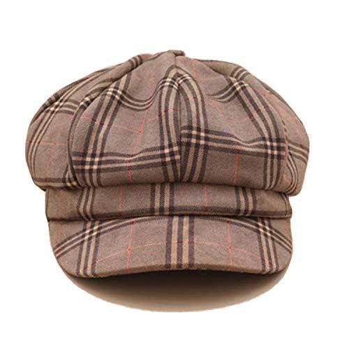Plaid Newsboy Caps Women Camel Cotton Octagonal Hat Newspaper Men Vintage Checkered Spring Autumn Flat Caps Ivy
