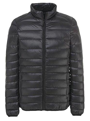 EKU Men's Outdoor Light Packable Down Puffer Jacket Coat US L Black