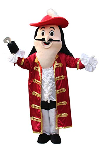 Funny Adult Size Pirate Mascot Costume for Party Carnival Outfits Halloween Dress for TV Programme and Stage