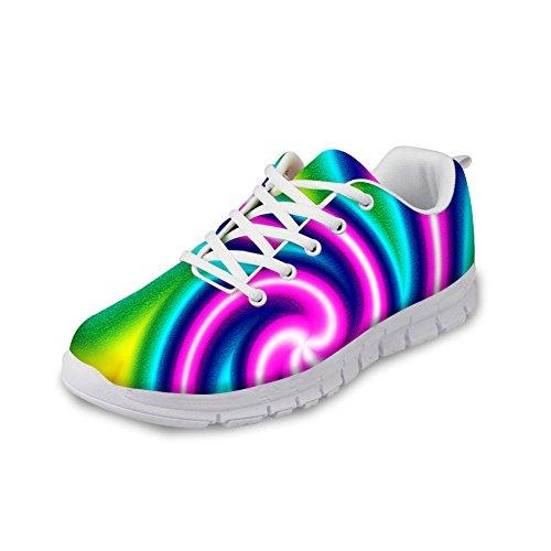 Kramar Idé Ljusa Färg Kvinna Mode Casual Kör Sneakers Färgglada 3