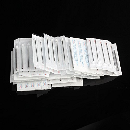 100PCS body Piercing Needles Mixed 8G 12G 13G 14G 15G 16G 17G 18G 20G Sterile Disposable Body Piercing Needles Ear Nose Navel Nipple