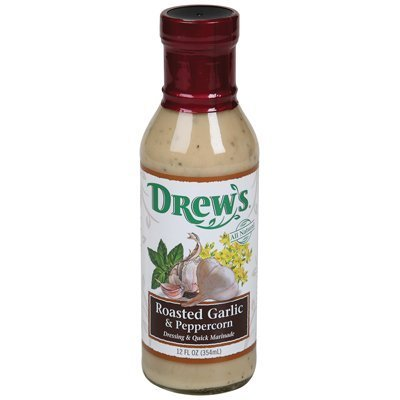 Dressing Rstd Garlic Peprcorn, 12 Oz -- 6 Per Case. by Drews All Natural ()