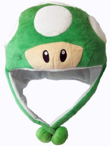 Super Mario Green Mushroom Aviator Hat (Super Mario Bros Mushroom)