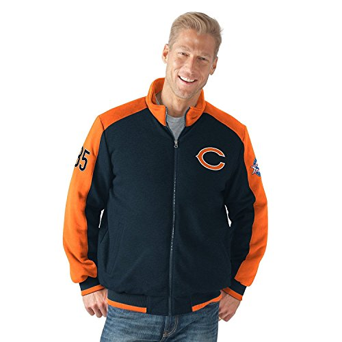 Licensed Sports Apparel Chicago Football Bears Classic Super Bowl Commemorative Cotton Fleece Varsity Jacket - L