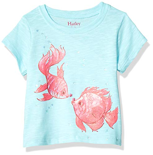 Hatley Baby Girls Graphic Tee, Kissing Fishies, 6-9 Months ()