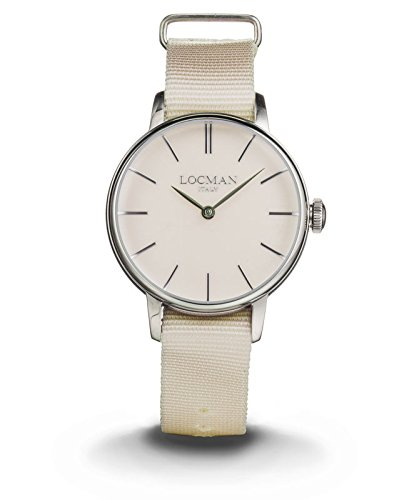 LOCMAN Watch 1960 LADY Only Time Quartz 5ATM Nylon Strap 32mm Powder Nickel Dial