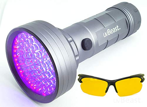 uvBeast NEW MIDI VERSION - 3 Modes – Compact Black Light UV Flashlight with Near 100 LED Power -...