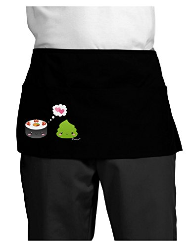 TooLoud Cute Sushi and Wasabi Love Dark Adult Mini Waist Apron - Black - One-Size by TooLoud