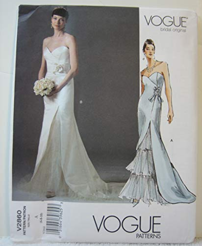 Vogue Bridal Original Pattern V2860 - Misses' Petite Dress (Size A 6-8-10)