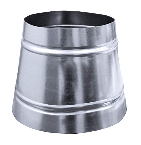 Duct Outlet Duct Reducer Without Collar - Single Wall Galvanized Metal Fitting HVAC (10