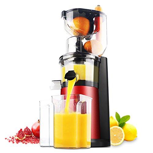 DULPLAY Quiet Slow Speed Masticating juicer,Healthy Fruit and Vegetable 180-watt,Bpa Free Metallic Juicer Machine -red 45x15x17cm(18x6x7inch) by DULPLAY (Image #8)