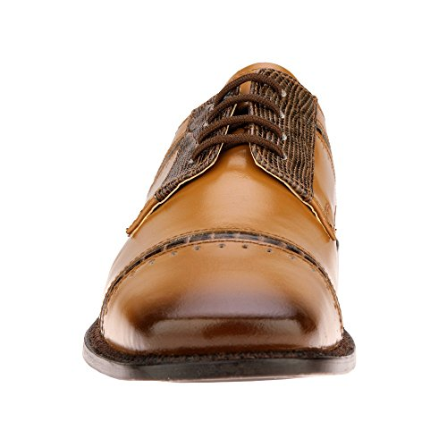 Print Shoes Dress Crocodile Liberty Boys Gliders Lace Genuine up Leather Brown Tan wzRXRpqWS