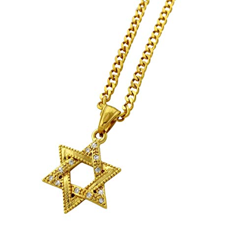 18k Gold Plated Star Pendant Stainless Steel Necklace with 24