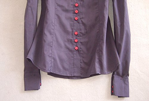 Camisas Con Botones Ol Mono Delgado De Mujeres C Remata Zamme La Las Clásicas Blusa Del Azul Cq7nfwgx