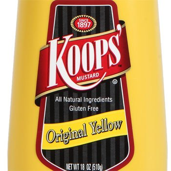 Koops Mustard Original Yellow, 12 Ounce (Pack of 3)