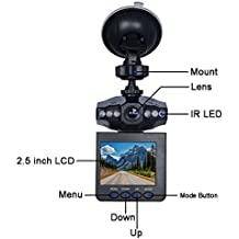 Camara Para Carro Pantalla Rotativa LED + Grabadora De Sonido Imagen
