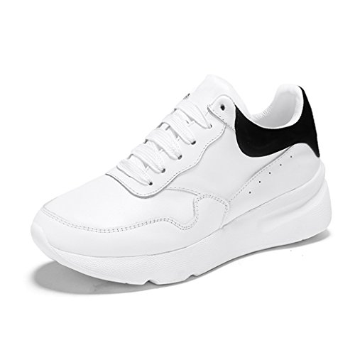 black de 37 White de de para de zapatos Tamaño de Color movimiento Zapatos femenina blancos White plataforma grueso pequeños Zapatos mujer casuales mujer primavera Zapatos Zapatos Black fondo HWF YqgSxS