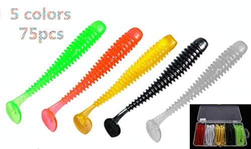 Toasis Soft Plastic Fishing Lures Bass Trout Worm Baits Paddle Tail Swimbait Silicone Fishing Grubs Assorted Colors Pack of -