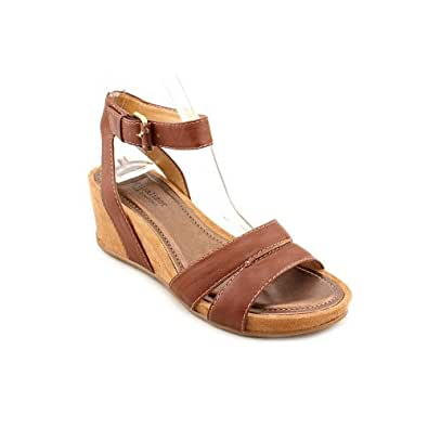 Naturalizer Panya Womens Size 10 Brown Open Toe Faux Leather Wedge Sandals Shoes