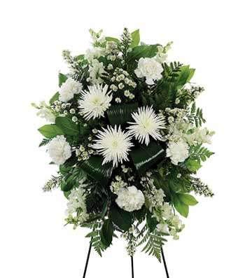 Classic Sympathies Standing Spray - Same Day Sympathy Flowers Delivery - Sympathy Flower - Sympathy Gifts - Send Online Sympathy Plants & Flowers