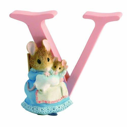 Beatrix Potter Alphabet - Beatrix Potter Alphabet Letter V Hunca Munca with Baby Figurine by Beatrix Potter