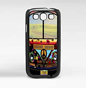 Retro 70's Colorful Peace Voltswagen Bus Hard Snap on Phone Case (Galaxy s3 III)