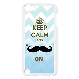 Custom Your Own Personalized Keep Calm And Mustache On Ipod Touch 5th Case, Snap On Hard Protective Mustache Ipod 5 Case Cover by runtopwell