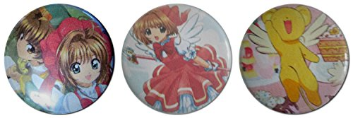 Bauble Card - Baubles of Time Women's Cardcaptor Sakura Pin Back Buttons 1.25 Inch Multicoloured