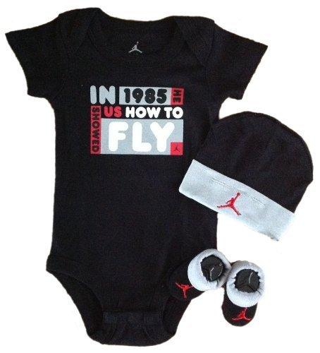 Nike Jordan Infant New Born Baby Layette 3 Piece Set
