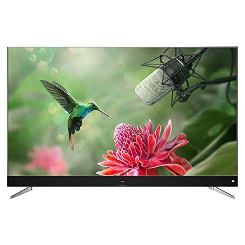 chollos oferta descuentos barato TCL U55C7006 Televisor de 55 Pulgadas Smart TV con 4K UHD HDR Premium Wide Color Gamut Android TV y JBL by HaRMAN Aluminio Cepillado Clase de eficiencia Energética A Gris
