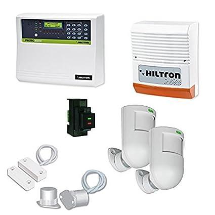 hiltron Kit central de alarma protec4 GSM 3 zonas + 1 H24 ...