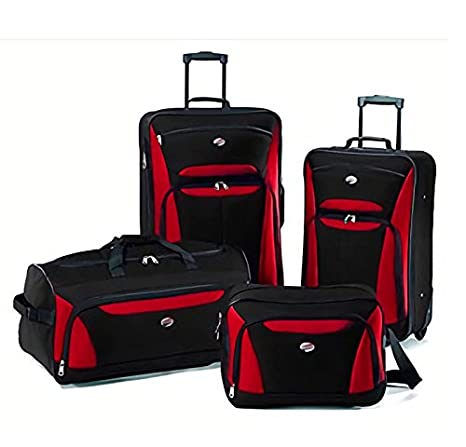 a81bf29fd Juego Kit Set 4 Maletas Viaje AT New Bari Rojo Samsonite American Tourister