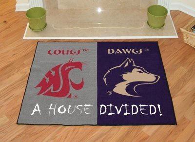 Fanmats Home Indoor sports Team Logo Mat Washington - Washington State House Divided Rugs 34x45 by Fanmats