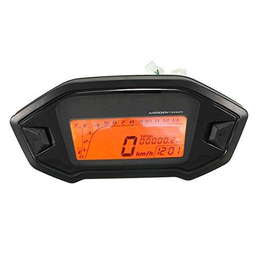 Price comparison product image LCD odometer - TOOGOO(R) Motorcycle Odometer Speedometer Tachometer Gauge Universal LCD Digital Backlight