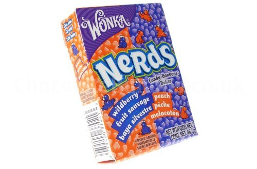 Wonka Sour Nerds Wildberry and Peach (box of (Nerds Sour)