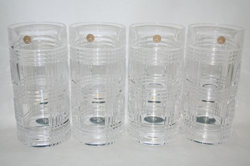 4 Ralph Lauren Glen Plaid Crystal Highball Tumblers Glasses (Lauren Ralph Tumbler)