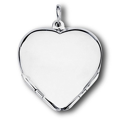 Sterling Silver Girls 24'' .8mm Box Chain Four Picture Clover Heart Locket Pendant Necklace by Auntie's Treasures